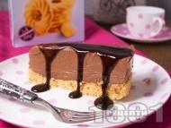 Лесен домашен шоколадов чийзкейк с маскарпоне без печене